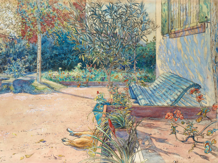 カール・ラーション Carl Larsson - My backyard 2732x2048