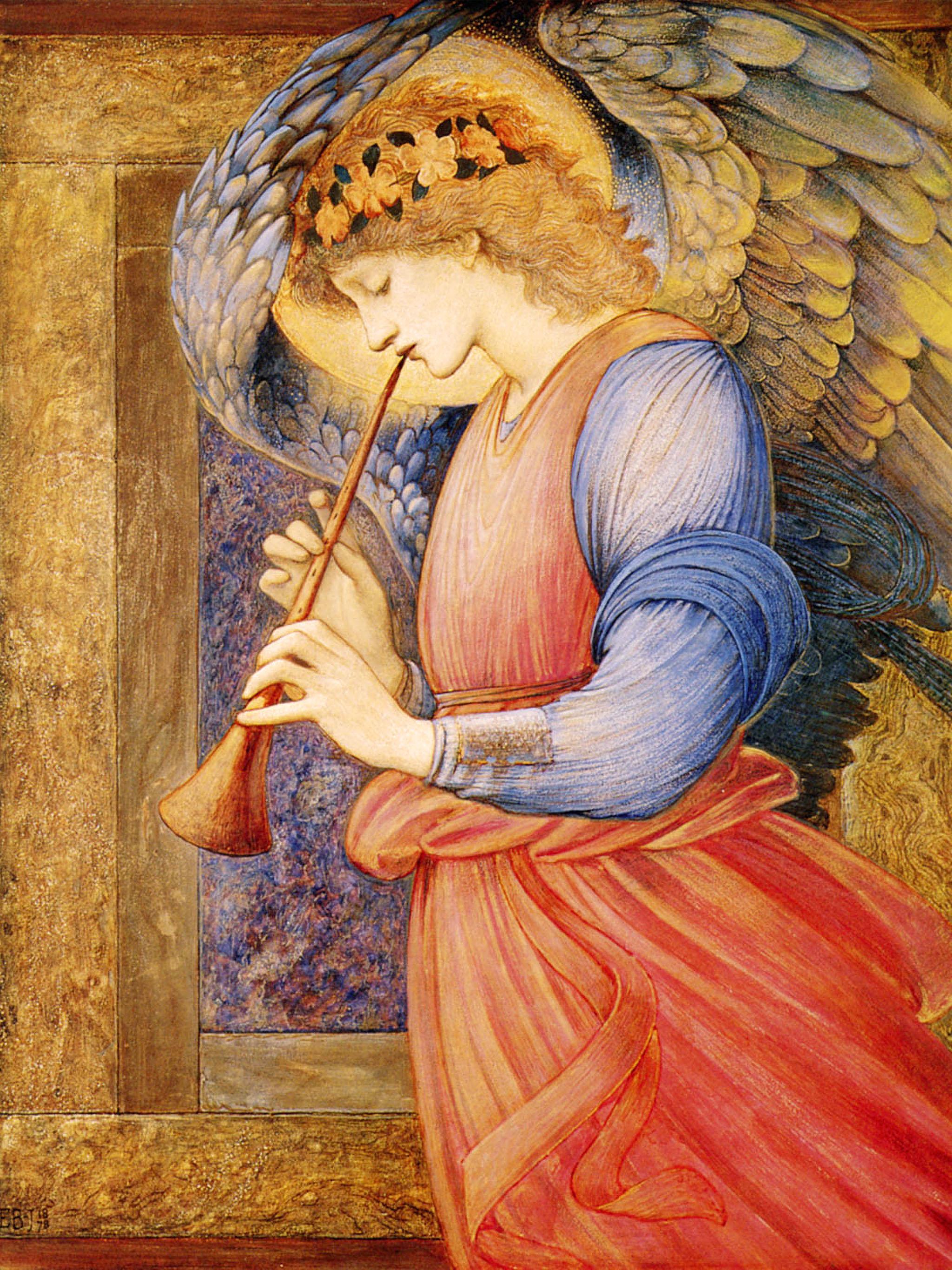 Edward Coley Burne-Jones - n Angel Playing a Flageolet 2048x2732