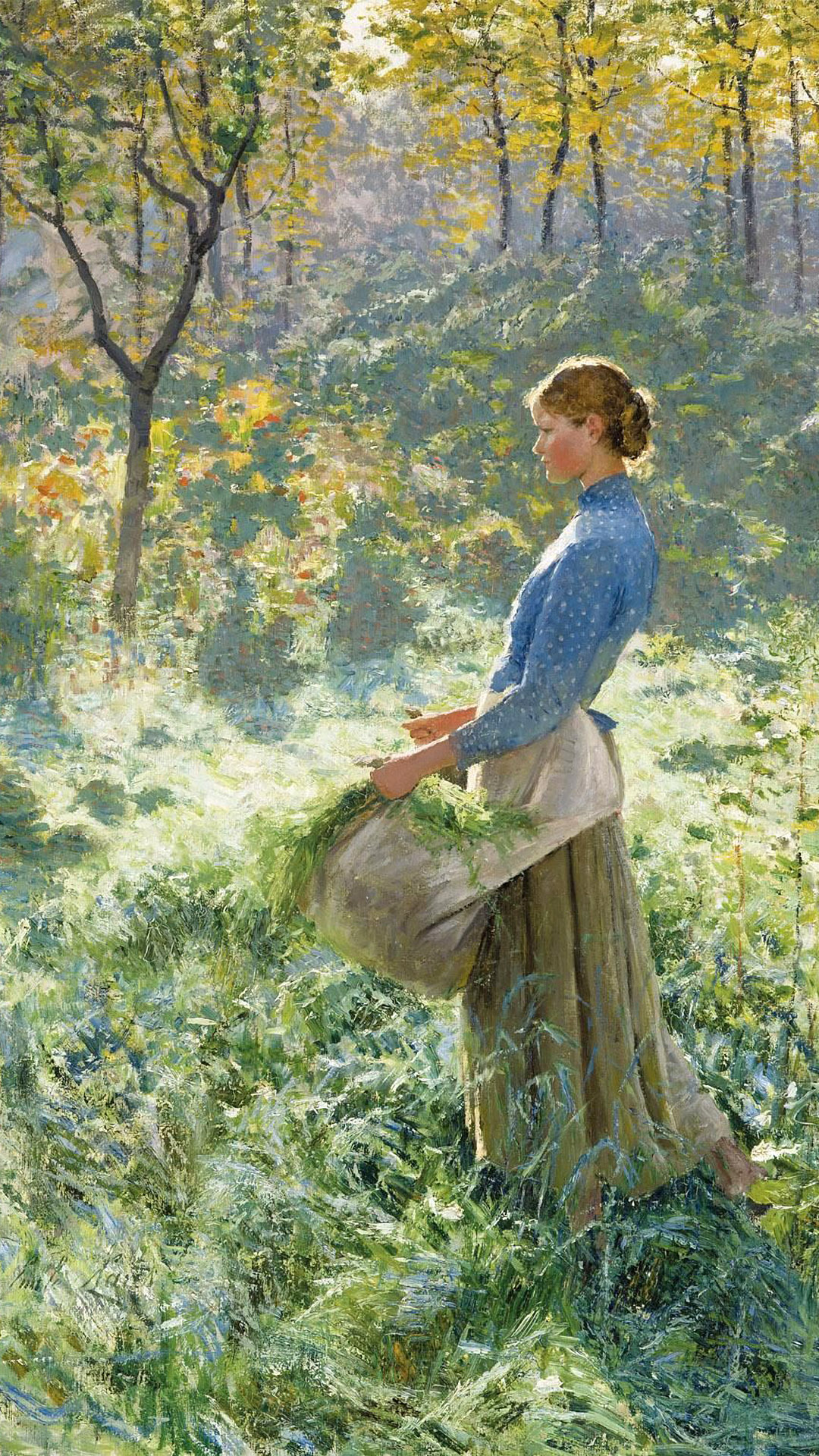 エミール・クラウス Emile Claus - Summer morning 1080x1920