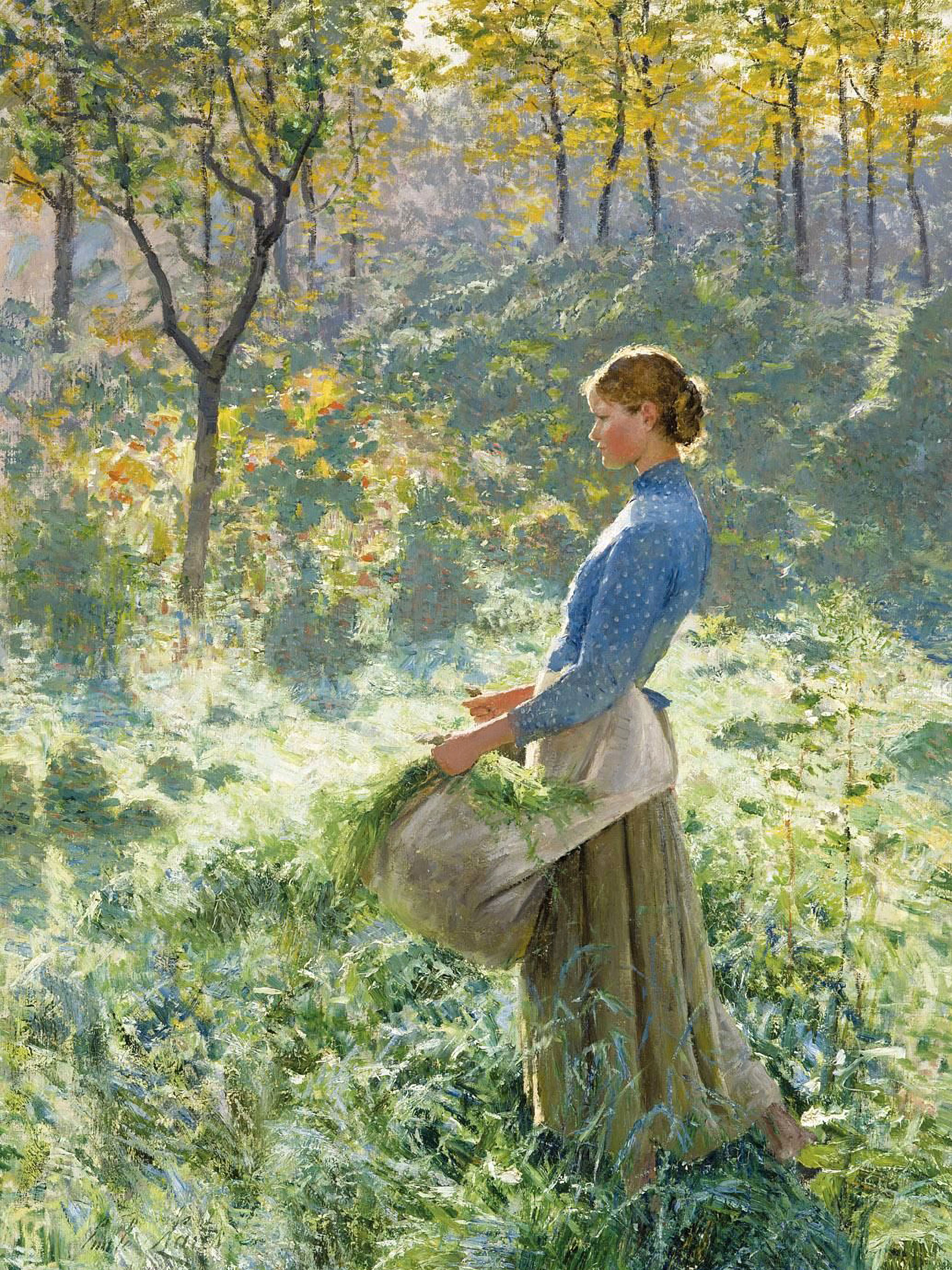 エミール・クラウス Emile Claus - Summer morning 2048x2732
