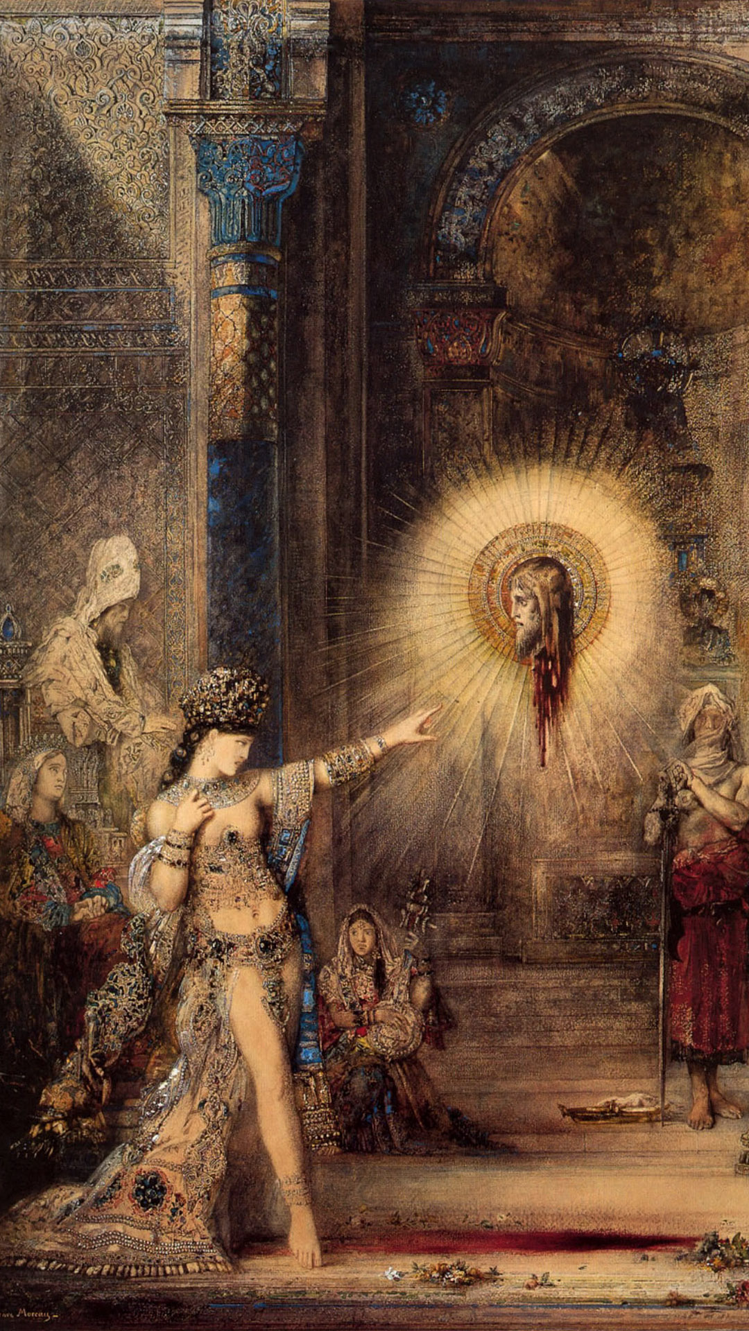 Gustave Moreau The Apparition 1876 1080x1920