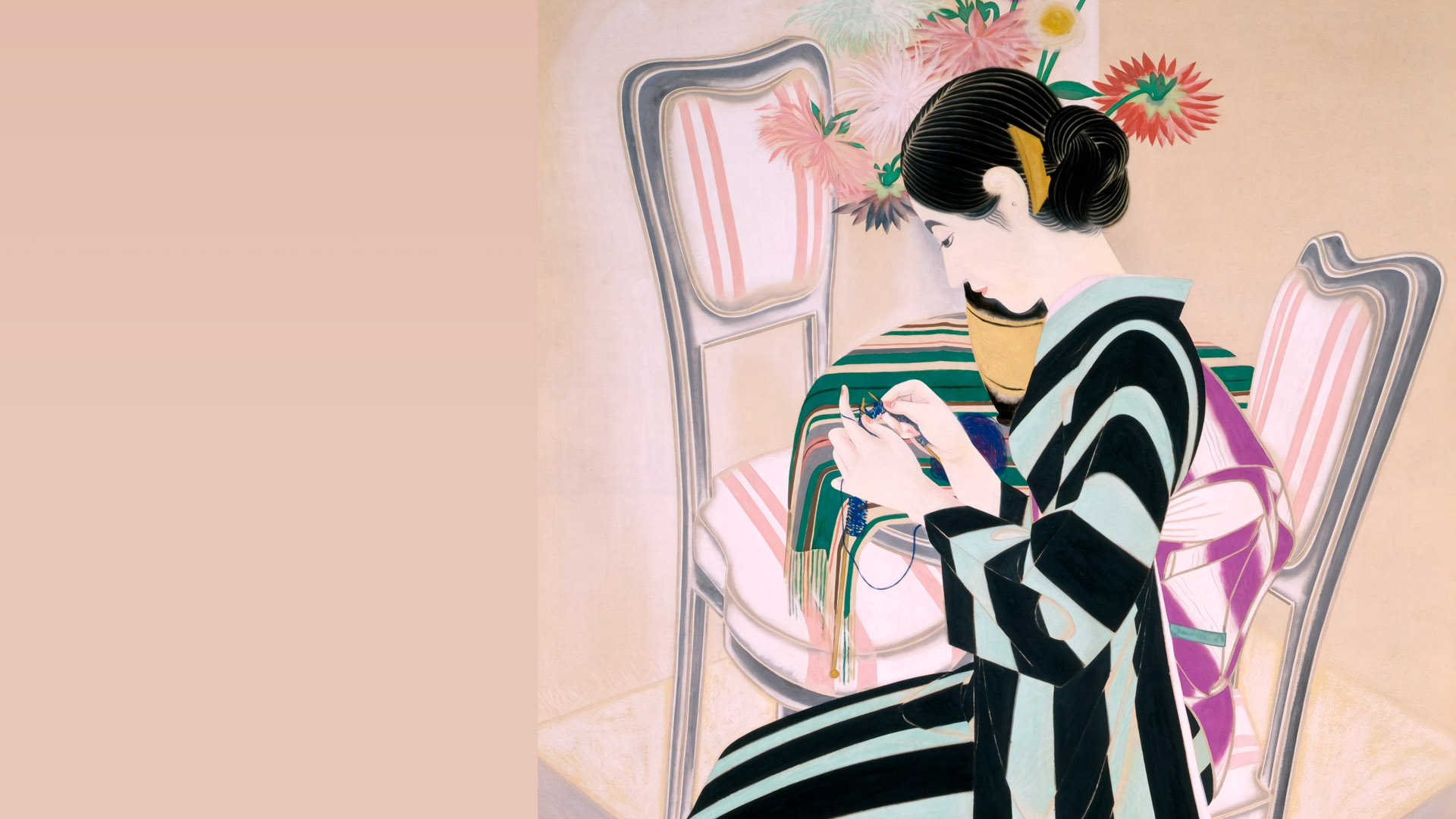 速水御舟 花ノ傍 Hayami Gyoshu - Hana no soba 1920x1080