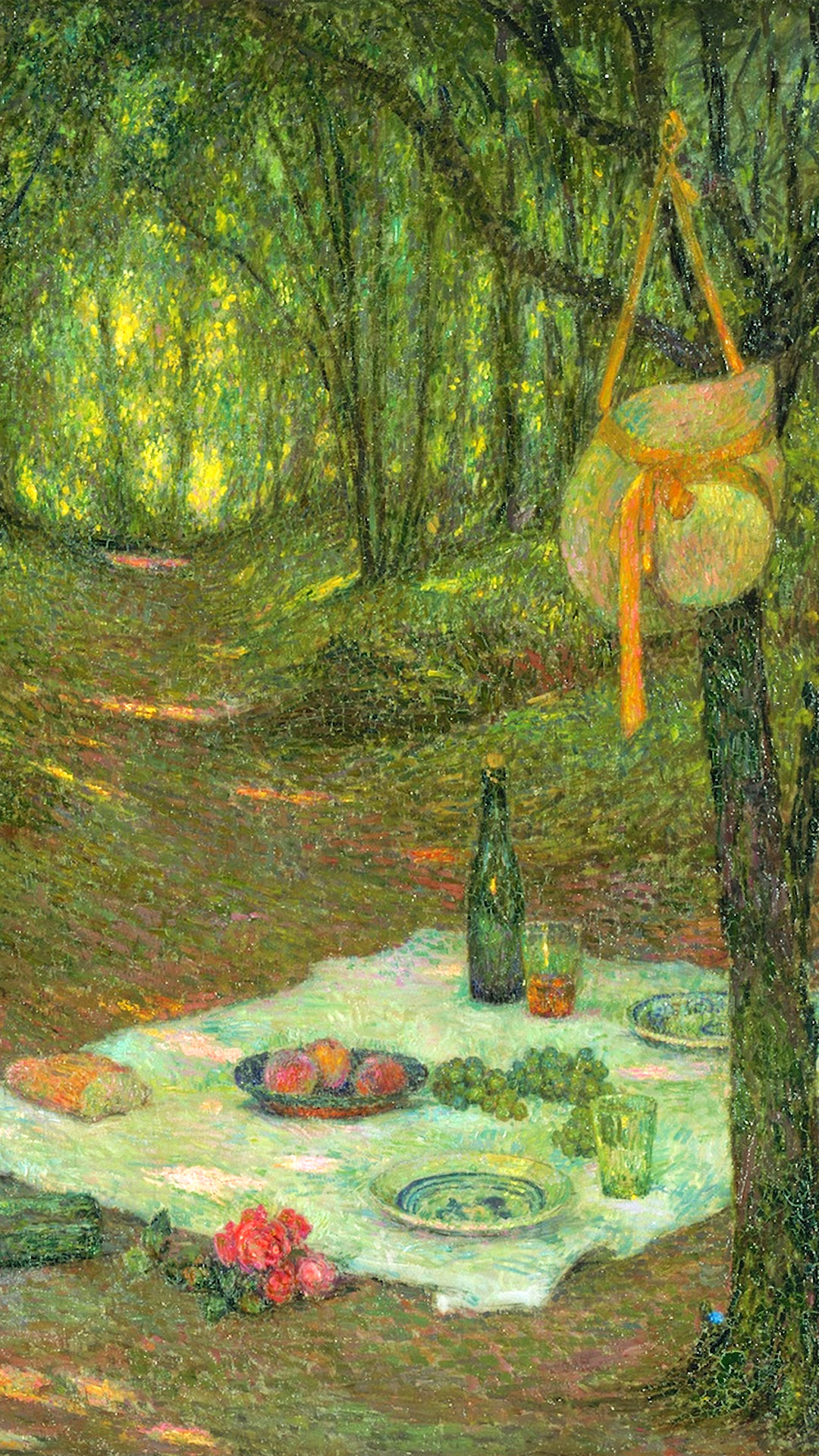 アンリ・ル・シダネル Henri Le Sidaner - A Break in the Woods, Gerberoy 1080x1920