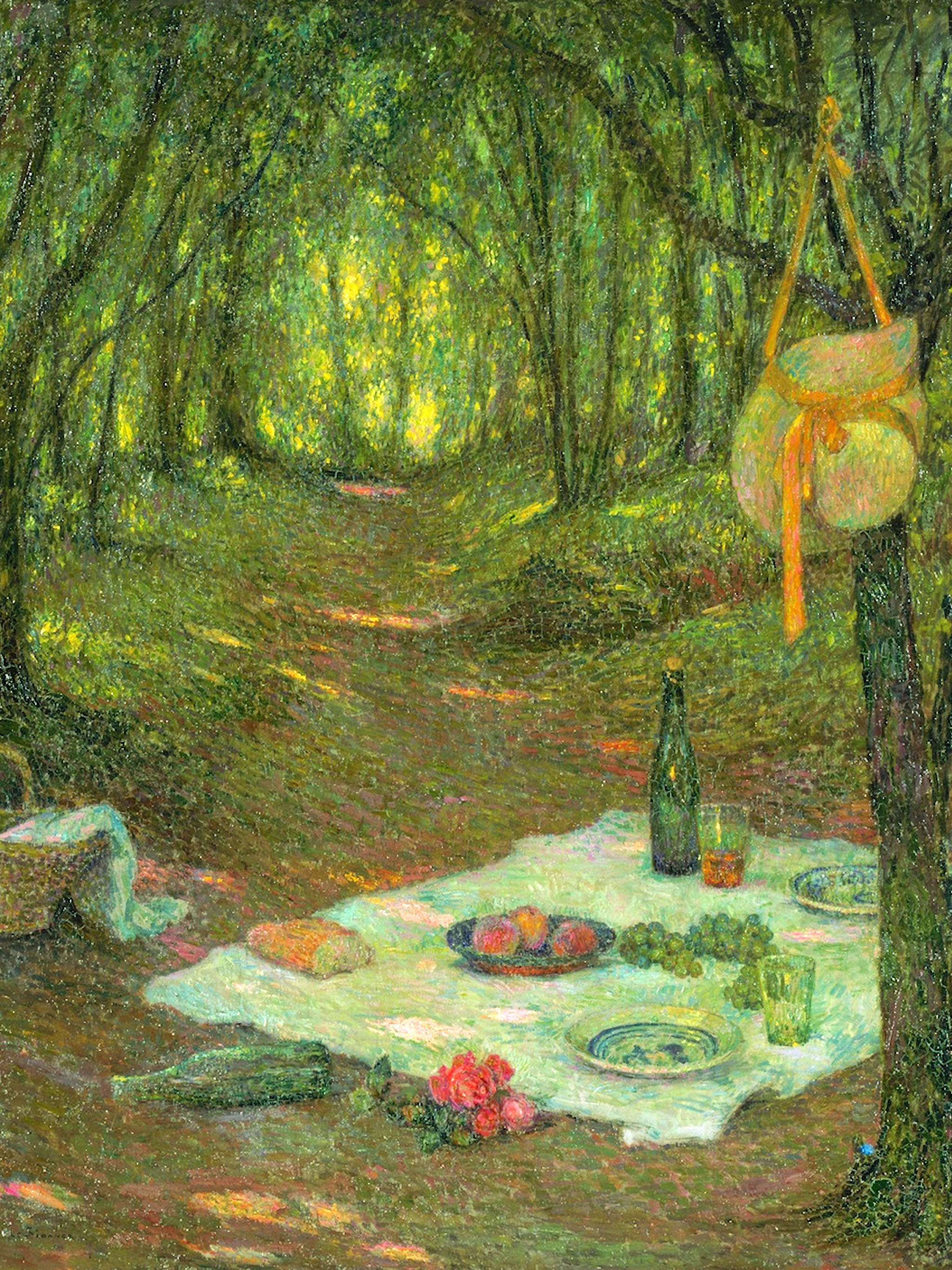 アンリ・ル・シダネル Henri Le Sidaner - A Break in the Woods, Gerberoy 2048x2732