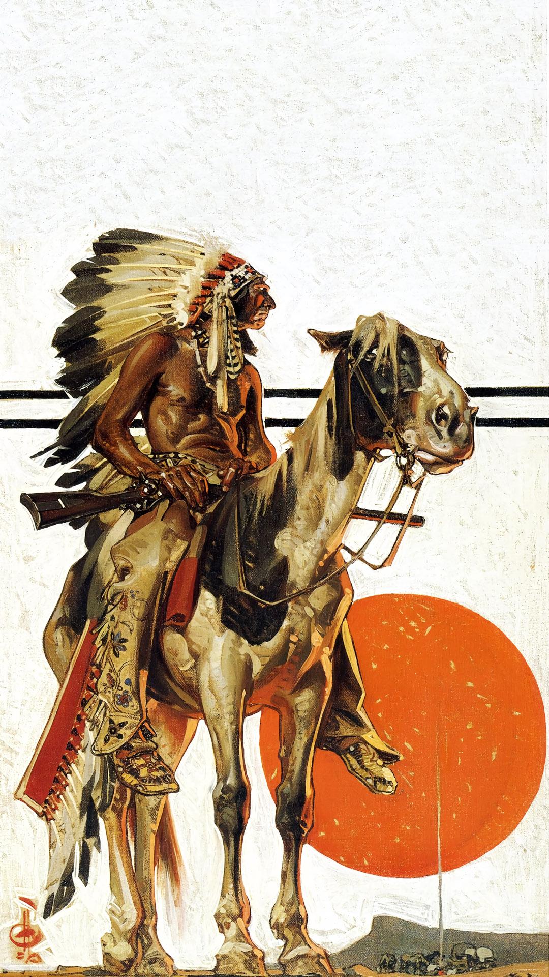 ライエンデッカー Joseph Christian Leyendecker - Indian Sunset 1080x1920