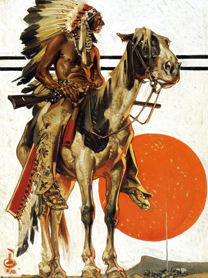 ライエンデッカー Joseph Christian Leyendecker - Indian Sunset 2048x2732
