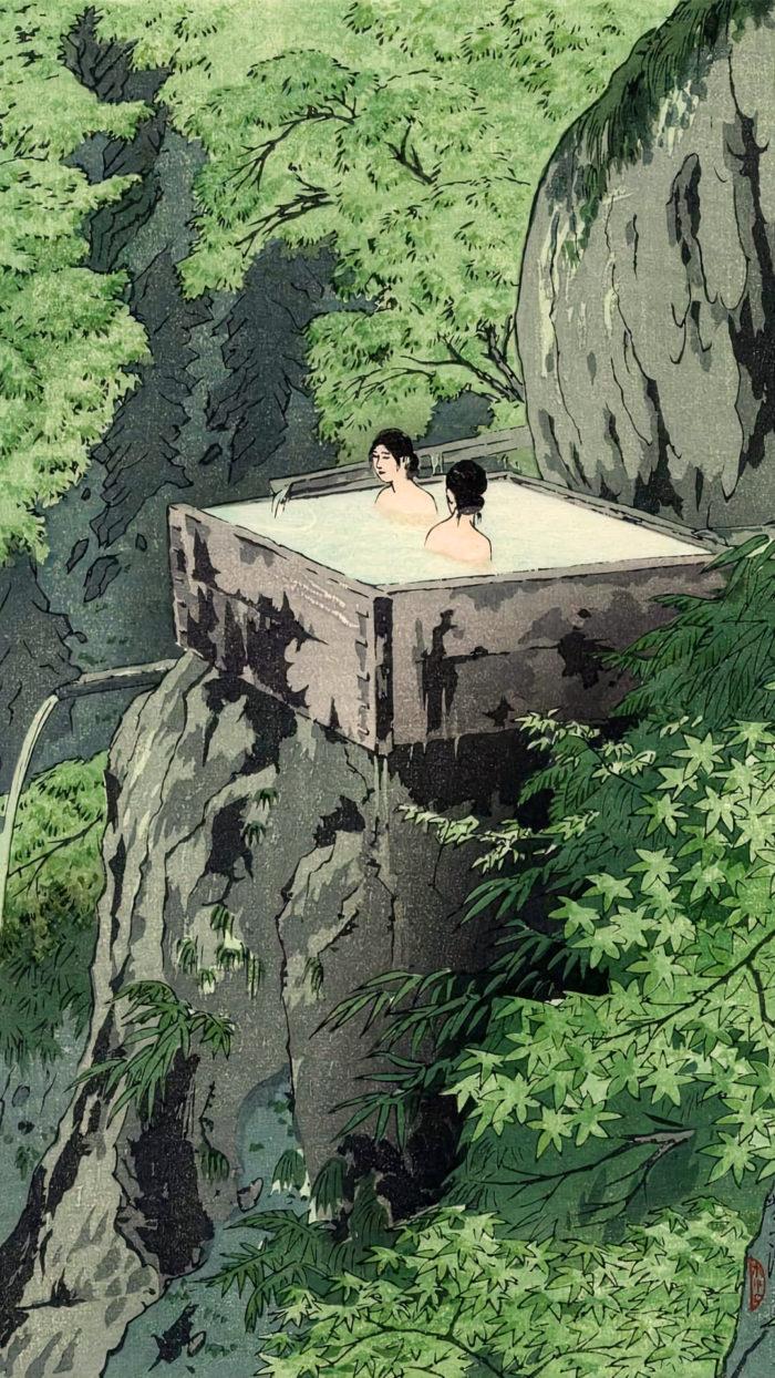 笠松紫浪 信州白骨温泉 Kasamatsu Shiro - Shinshu shirahone onsen 1080x1920