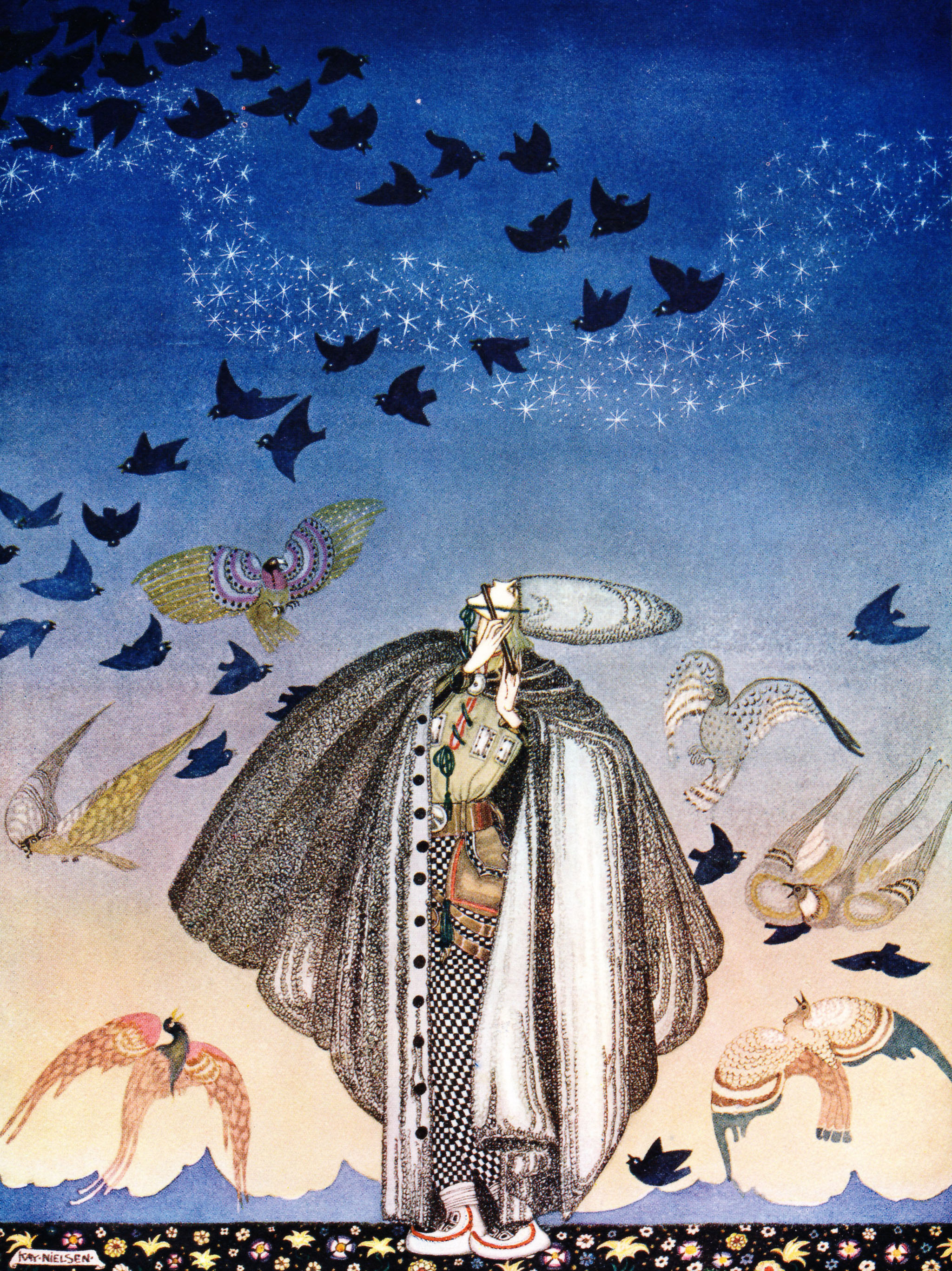 カイ・ニールセン Kay Nielsen - No sooner had he whistled than 2048x2732