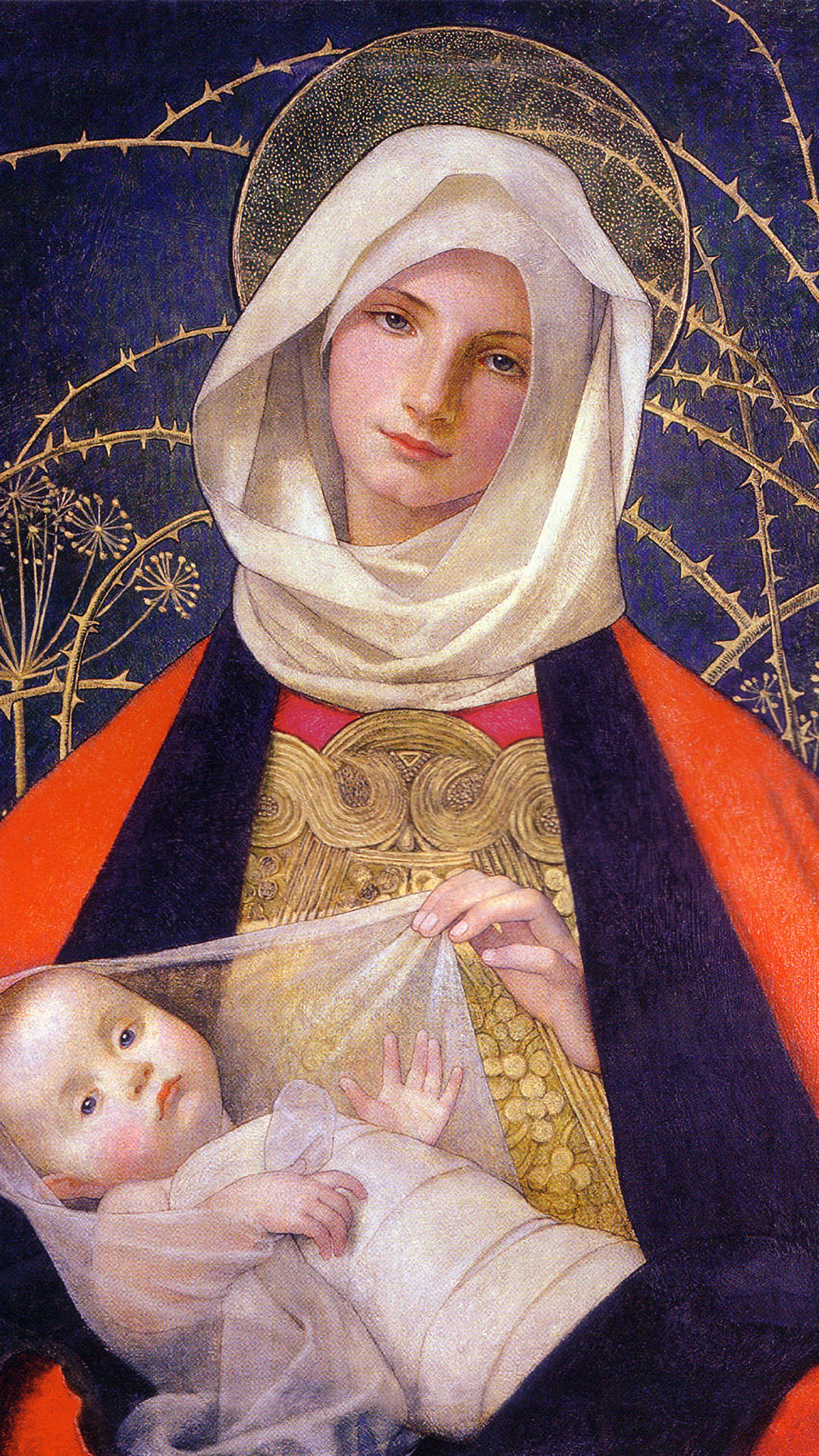 Marianne Stokes - Madonna and Child 1080x1920
