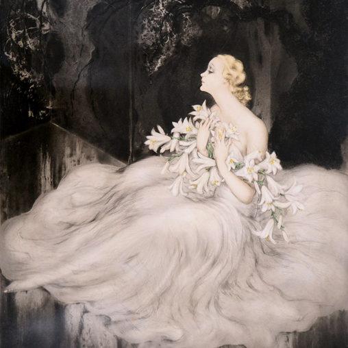 louis Icart - lilies d