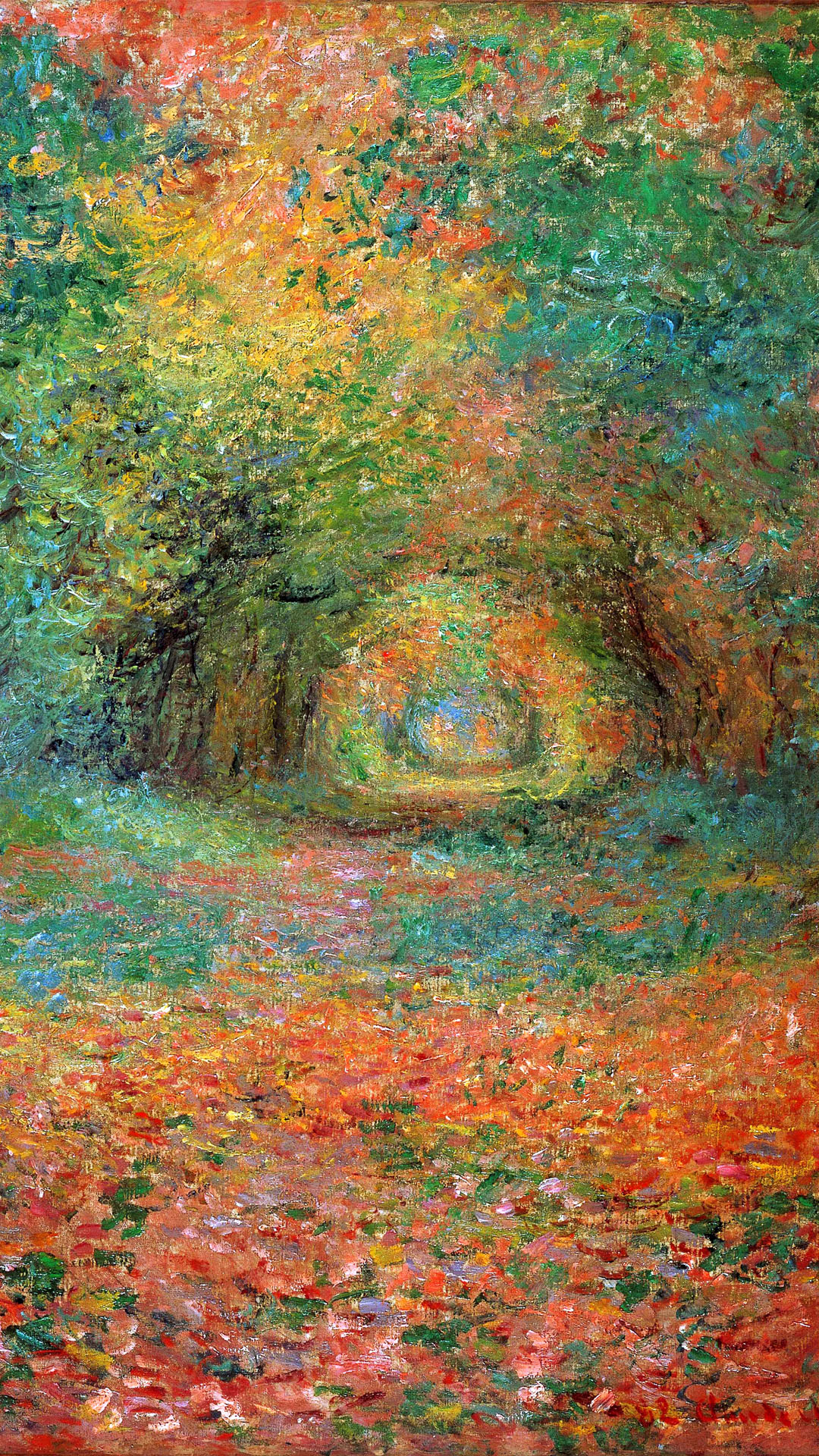 クロード・モネ Claude Monet - The Undergrowth in the Forest of Saint-Germain 1080x1920