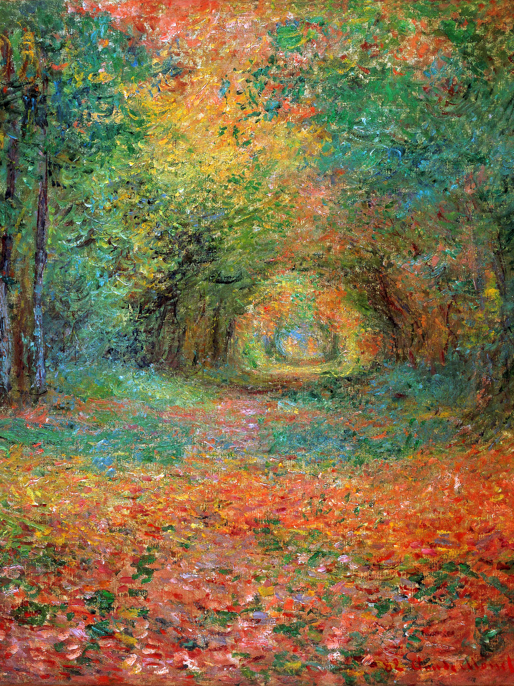 クロード・モネ サン=ジェルマンの森の中で Claude Monet - The Undergrowth in the Forest of Saint-Germain 2048x2732