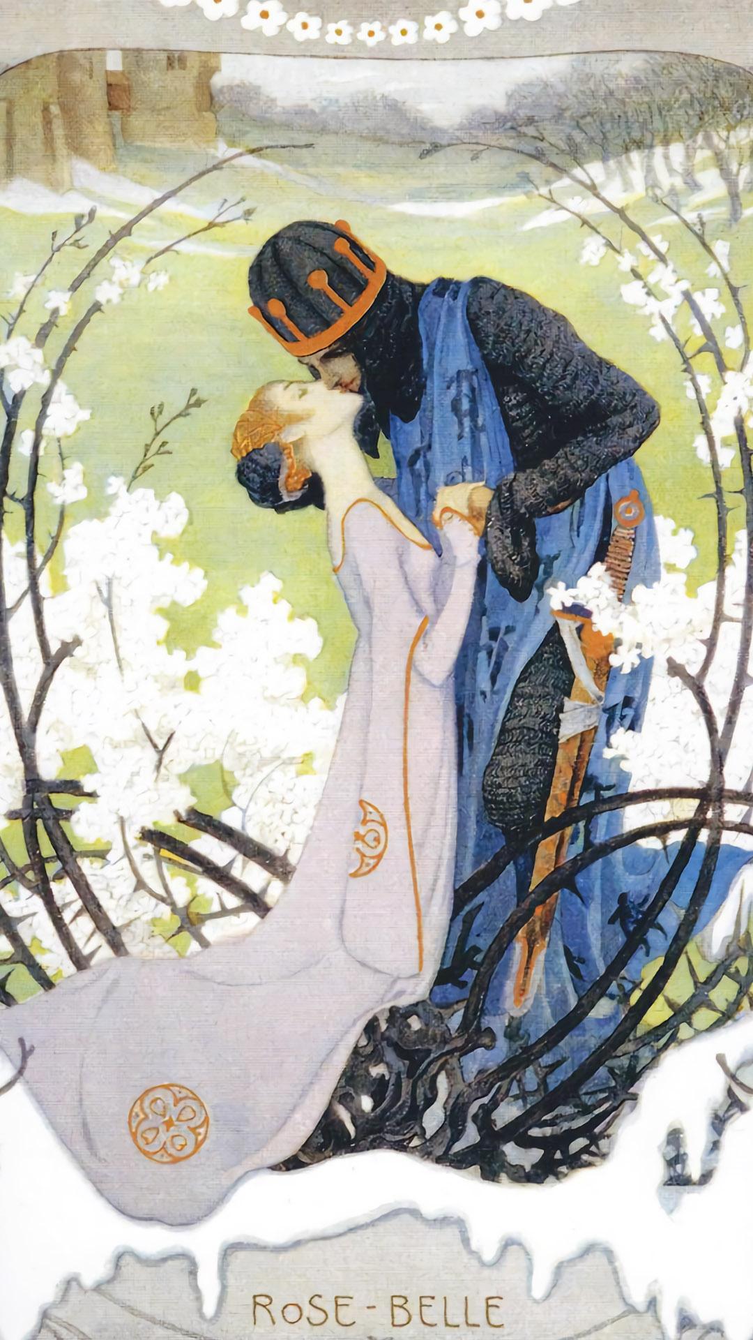 ハインリッヒ・レフラー Heinrich Lefler - Rose Belle 1080x1920