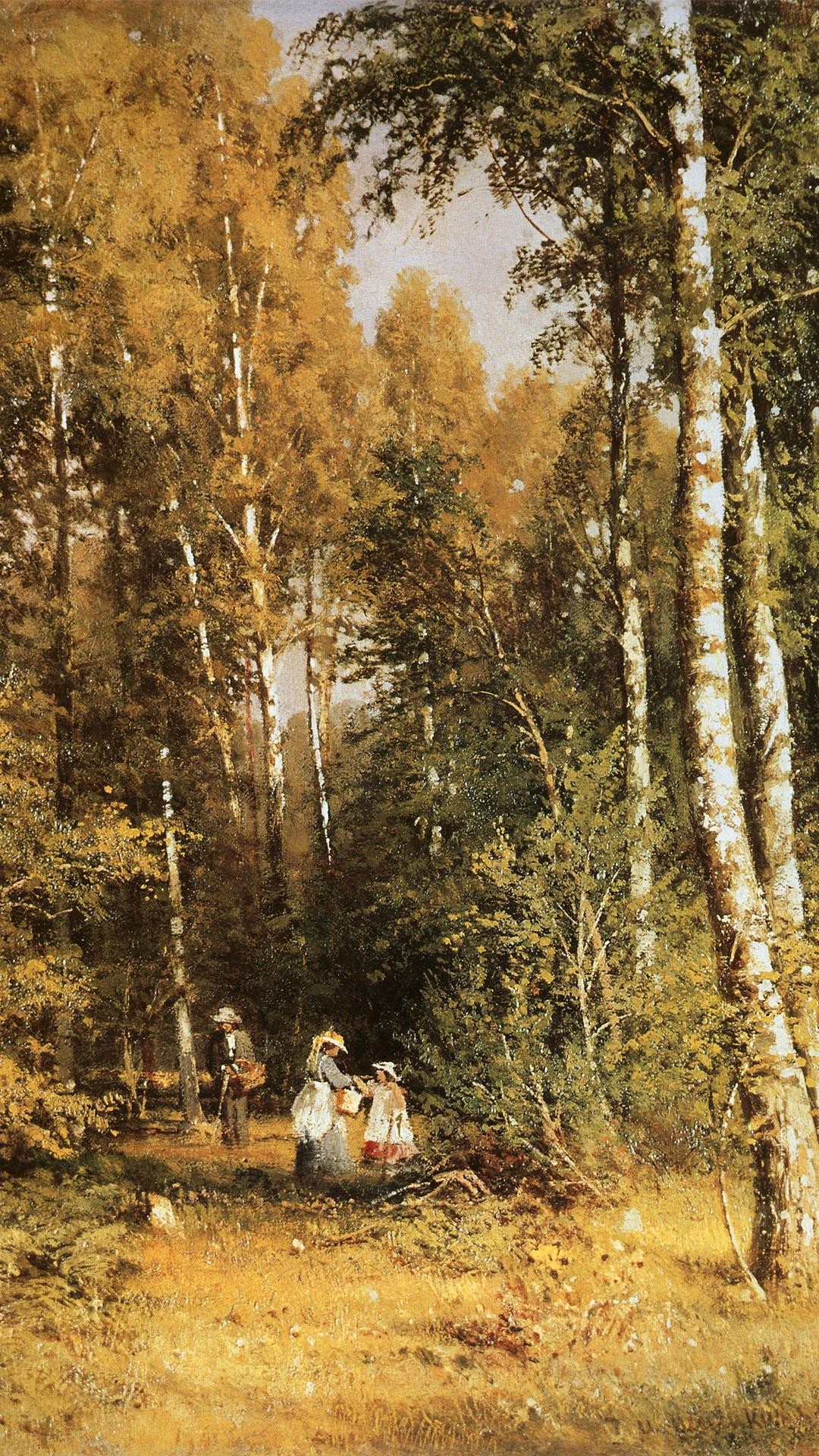イヴァン・シーシキン Iwan Schischkin - birch grove 1080x1920