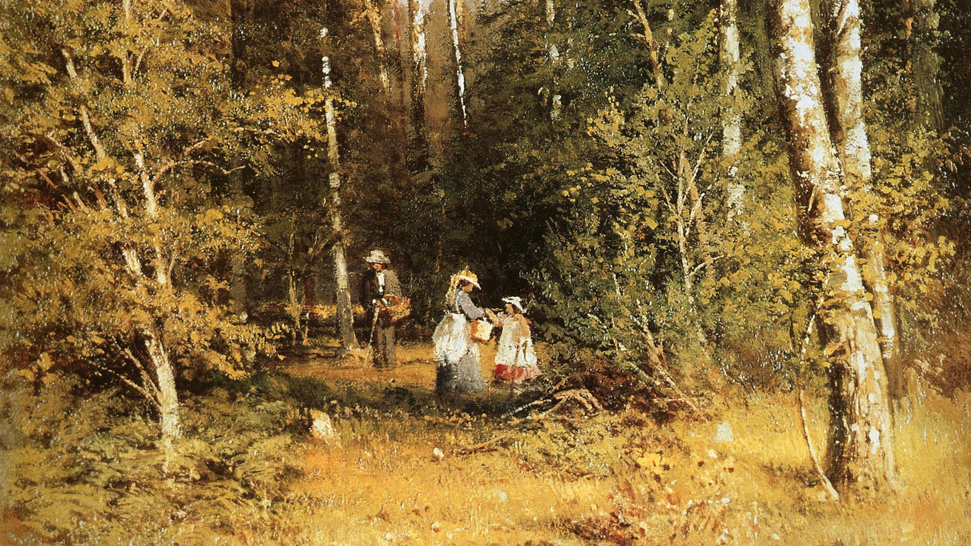 イヴァン・シーシキン Iwan Schischkin - birch grove 1920x1080