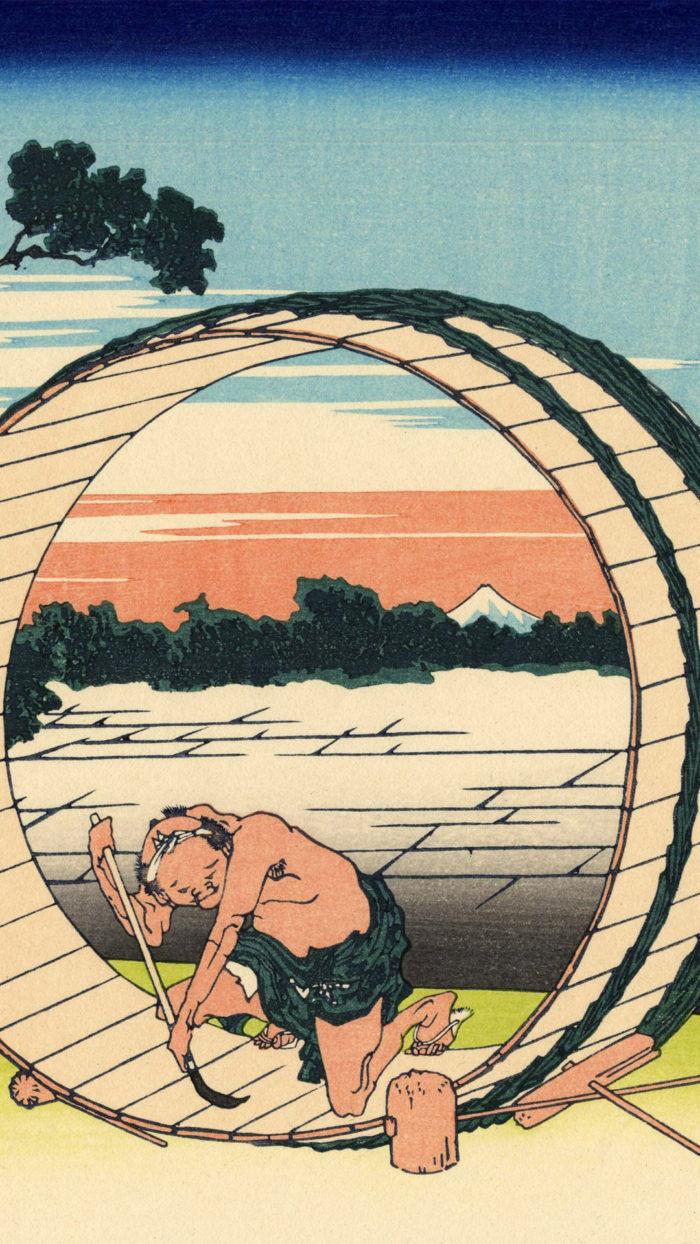葛飾北斎 富嶽三十六景 尾州不二見原 Katsushika Hokusai - 36 Bishu fujimigahara 1080x1920