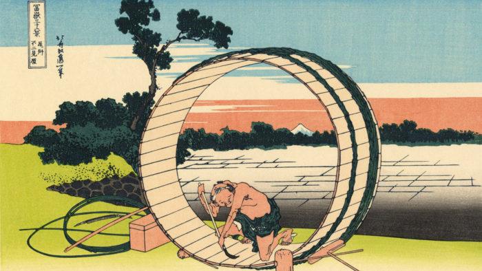 葛飾北斎 富嶽三十六景 尾州不二見原 Katsushika Hokusai - 36 Bishu fujimigahara 1920x1080