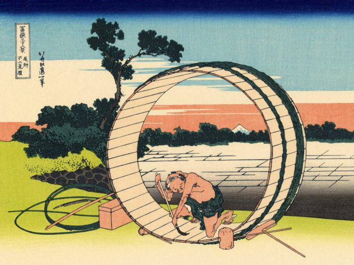 葛飾北斎 富嶽三十六景 尾州不二見原 Katsushika Hokusai - 36 Bishu fujimigahara 2732x2048