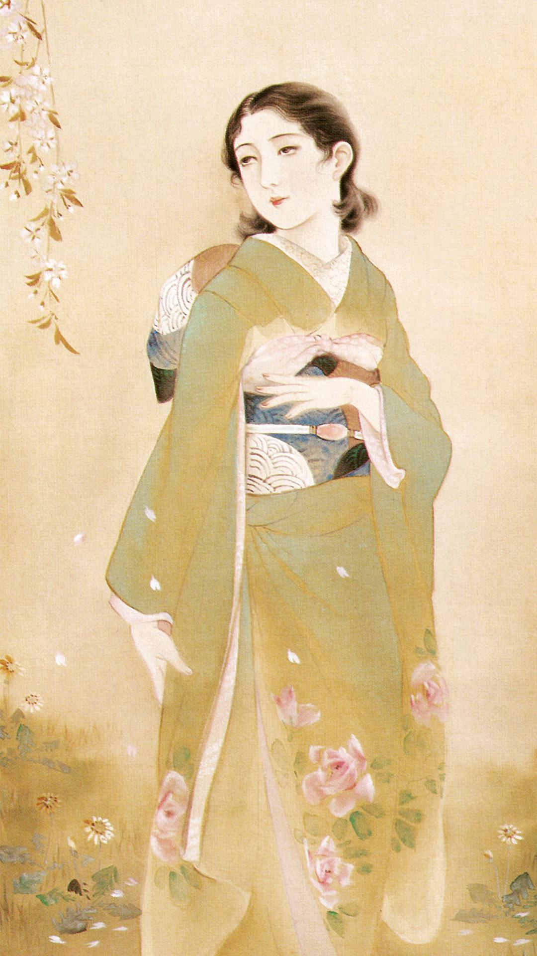 高畠華宵 惜春賦 Takabatake Kasho - Sekishunfu 1080x1920 2