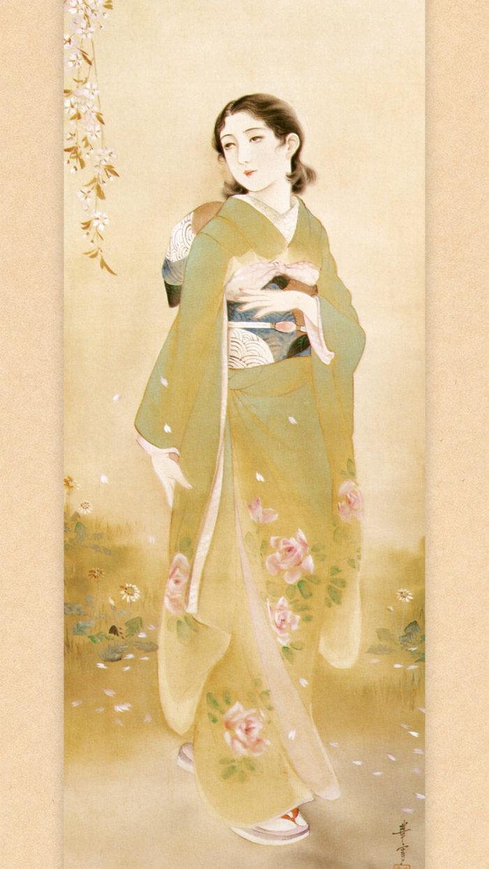 高畠華宵 惜春賦 Takabatake Kasho - Sekishunfu 1080x1920