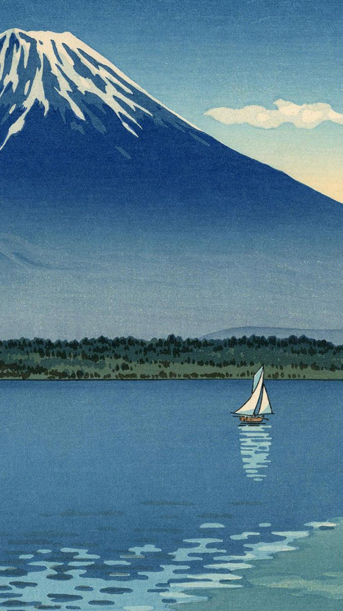 土屋光逸 精進湖 Tsuchiya Koitsu - Shoji ko 1080x1920