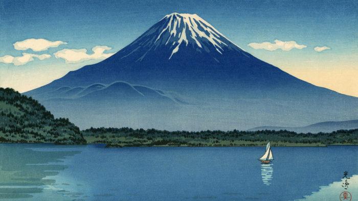 土屋光逸 精進湖 Tsuchiya Koitsu - Shoji ko 1920x1080