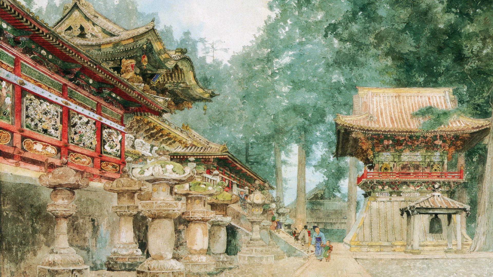 吉田博 日光 Yoshida Hiroshi - Nikko 1920x1080