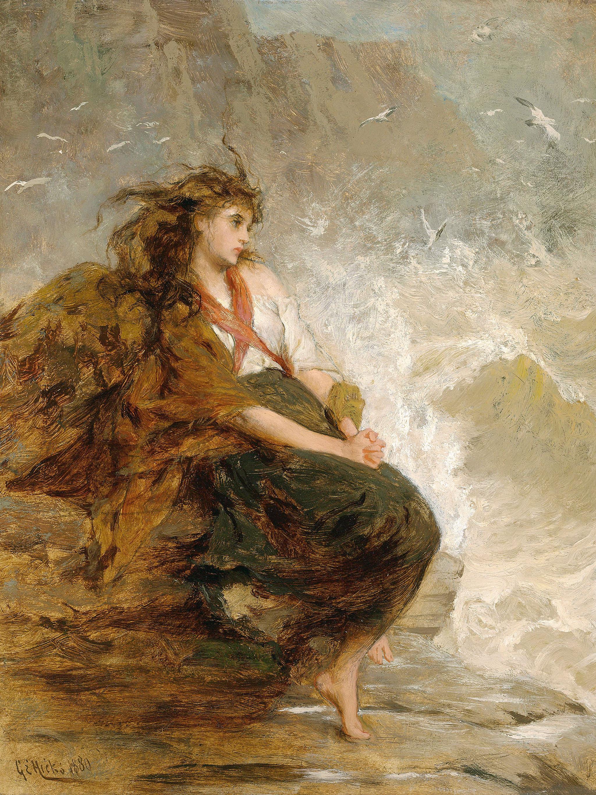 ジョージ・エルガー・ヒックス George Elgar Hicks - Alone 2048x2732