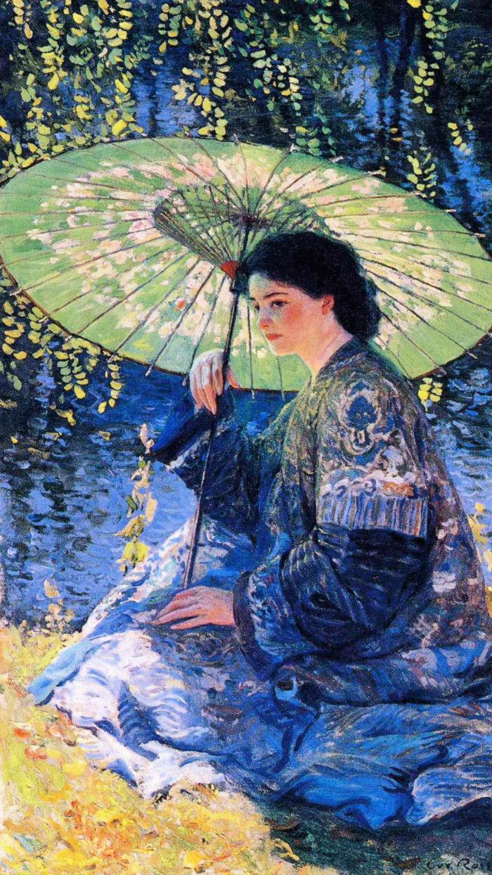 ガイ・ローズ Guy Rose - The Green Parasol 1080x1920