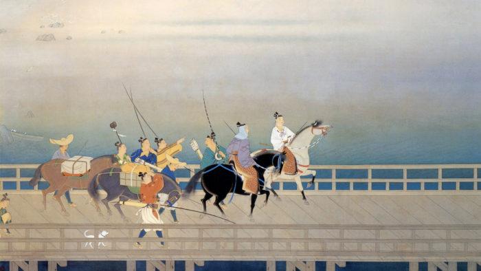岩田正巳 浜名をわたる源九郎義経 Iwata Masami - Hamana wo wataru minamoto no kuro yoshitsune 1920x1080