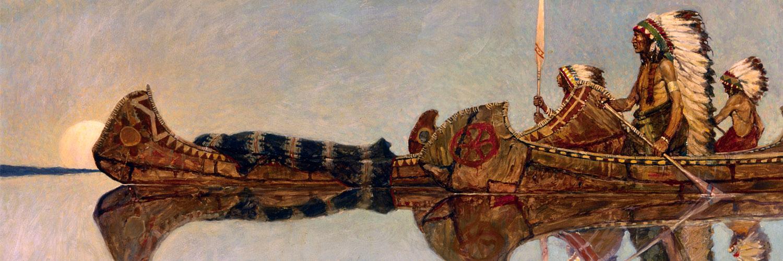 N. C. Wyeth - The Water Burial 1500x500