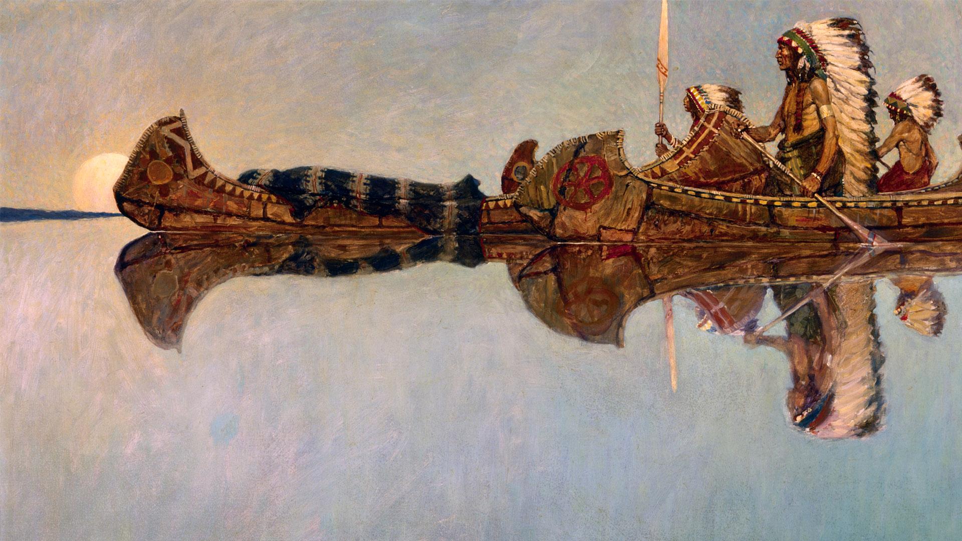 ニューエル・コンヴァース・ワイエス N. C. Wyeth - The Water Burial 1920x1080