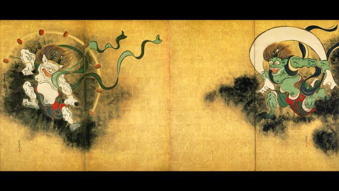 俵屋宗達 風神雷神図 Tawaraya Sotatsu - Fujin raijin zu 1920x1080