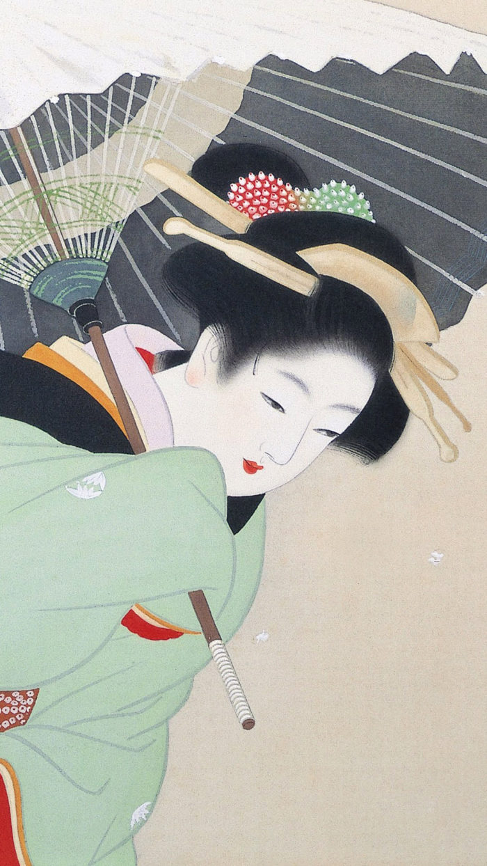 上村松園 牡丹雪 Uemura Shoen - Botan yuki 1080x1920