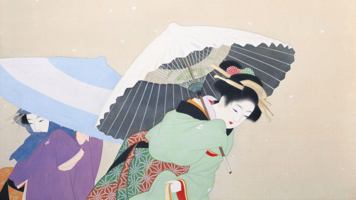 上村松園 牡丹雪 Uemura Shoen - Botan yuki 1920x1080
