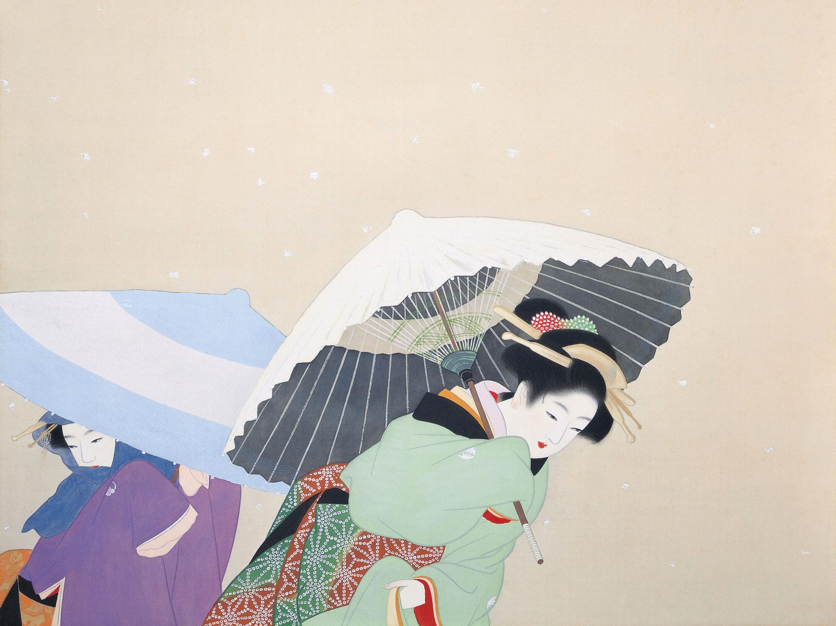 上村松園 牡丹雪 Uemura Shoen - Botan yuki 2732x2048