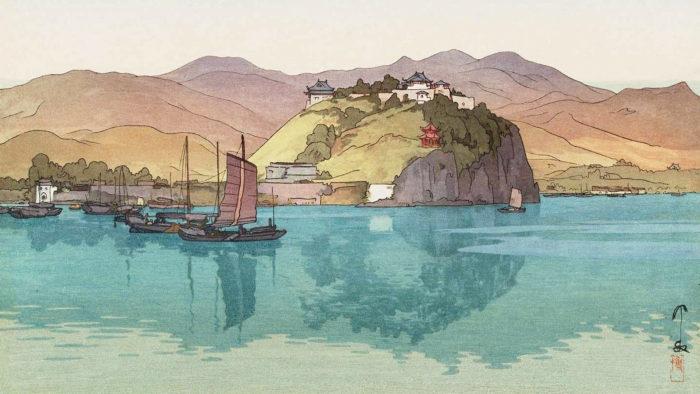 吉田博 湖口 Yoshida Hiroshi - Koko 1920x1080