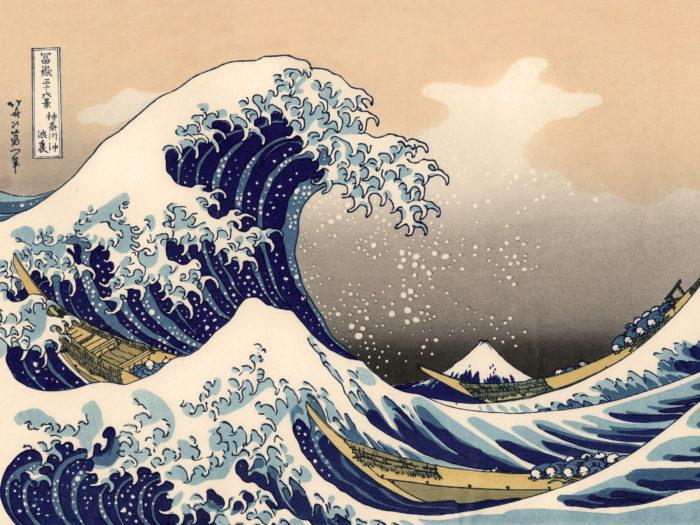 富嶽三十六景 神奈川沖浪裏 Katsushika Hokusai – 36 Kanagawa oki namiura 2732x2048