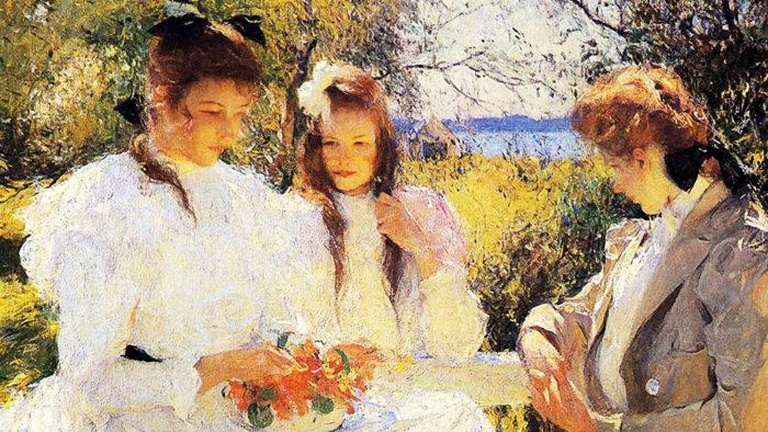 Frank Benson - Portrait of My Daughters 1920x1080