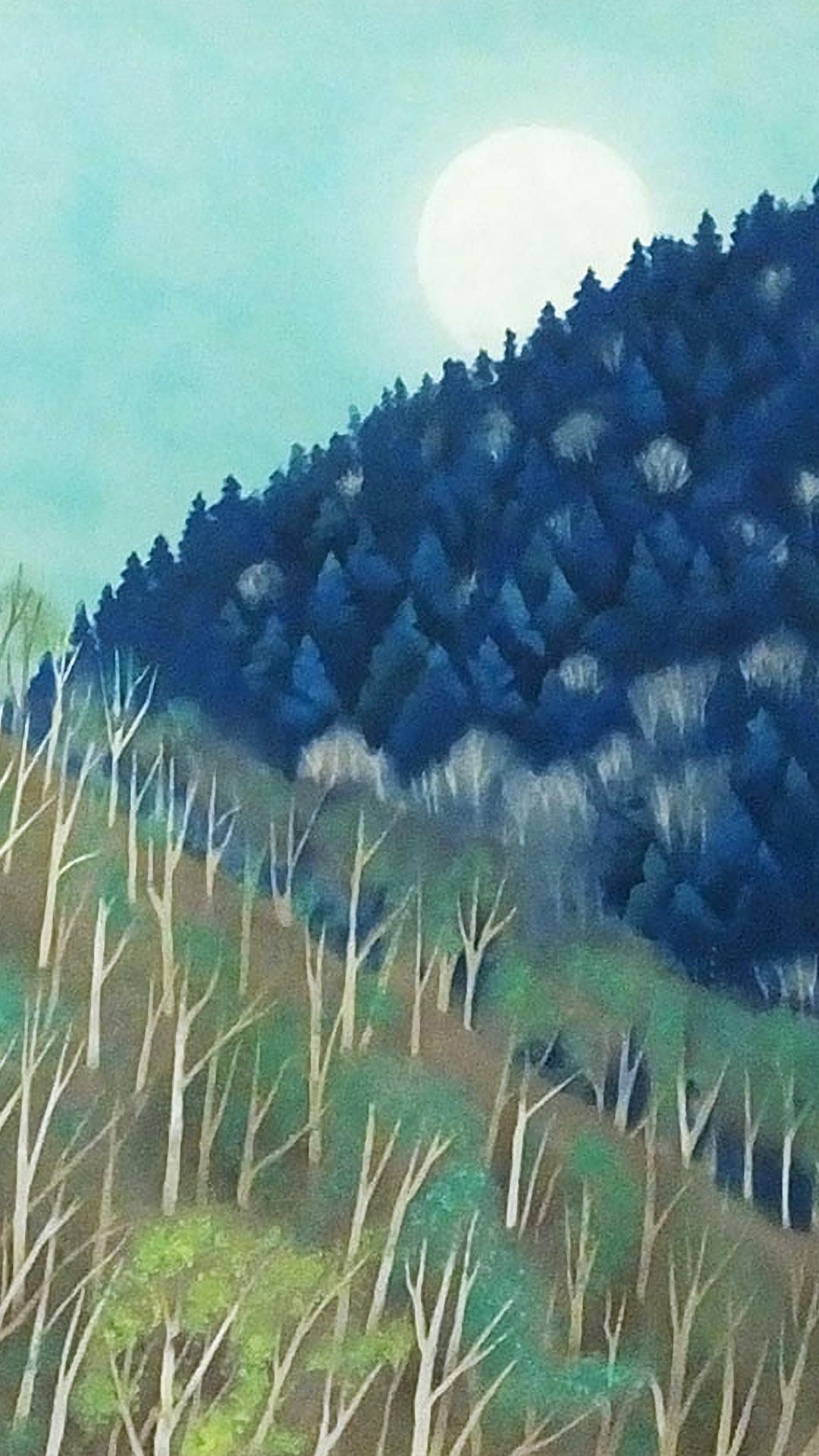 東山魁夷 月出づ Higashiyama Kaii - Tsuki idu 1080x1920