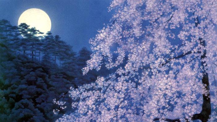 東山魁夷 宵桜 Higashiyama Kaii - yoizakura 1920x1080