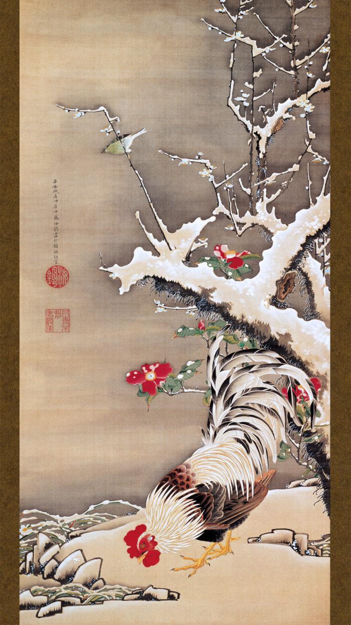Ito Jakuchu - Setsubai yukaku zu 1080x1920 2