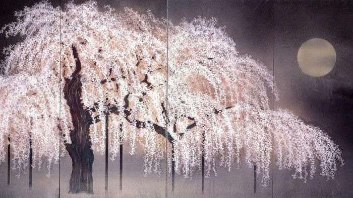 加山又造 淡月 Kayama Matazo - Tangetsu 1920x1080