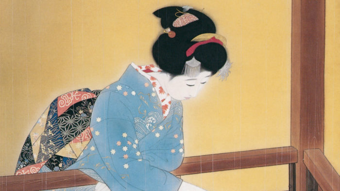 北野恒富 五月雨 Kitano Tsunetomi - Samidare 1920x1080