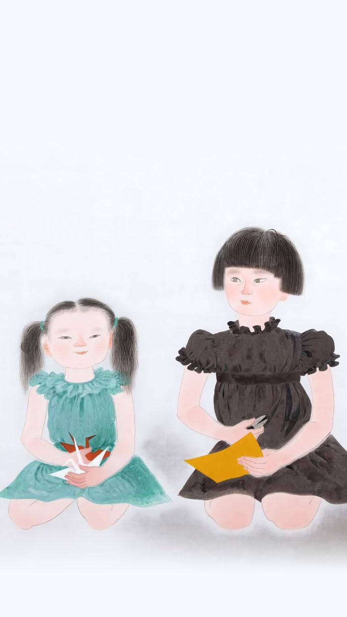 小倉遊亀 姉妹 Ogura Yuki - Shimai 1080x1920