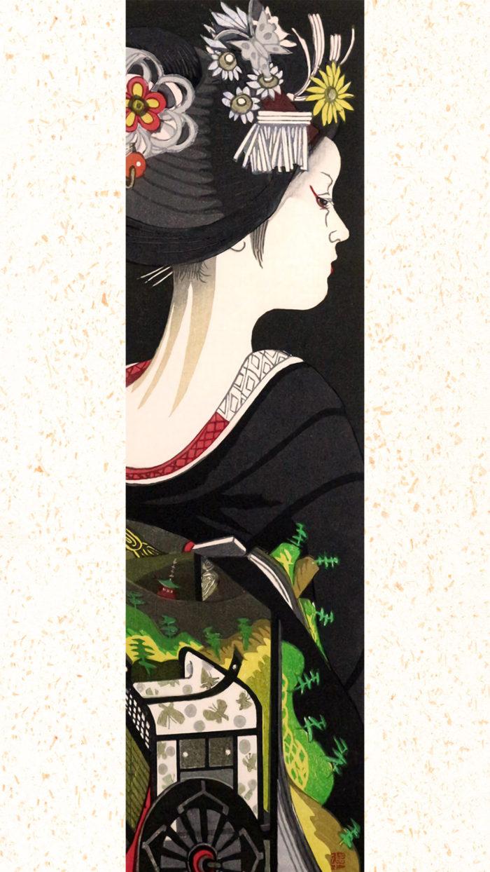 関野準一郎 舞妓 睦月 御所車 Sekinio Junichiro - Mutsuki goshoguruma 1080z1920