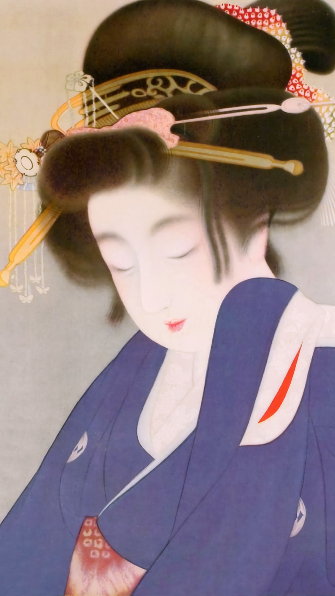 上村松園 長夜 Uemura shoen - Choya 1080x1920