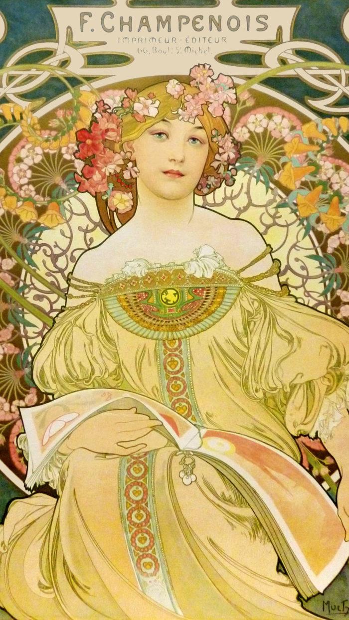 アルフォンス・ミュシャ Alfons Mucha – Reverie 1080x1920