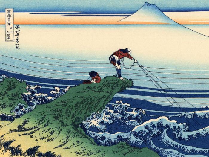 富嶽三十六景 甲州石班澤 Katsushika Hokusai – 36 Koshu kajikazawa 2732x2048