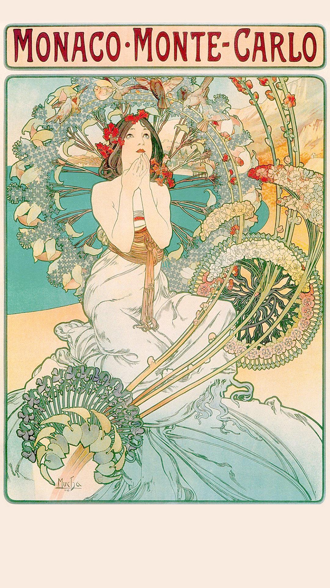 ミュシャ Alfons Mucha – MONACO MONTE CARLO 1080x1920